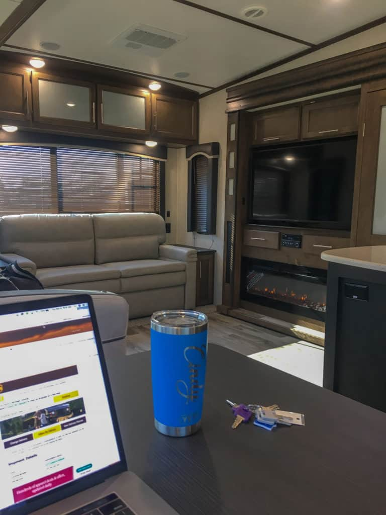 first work day in the rv