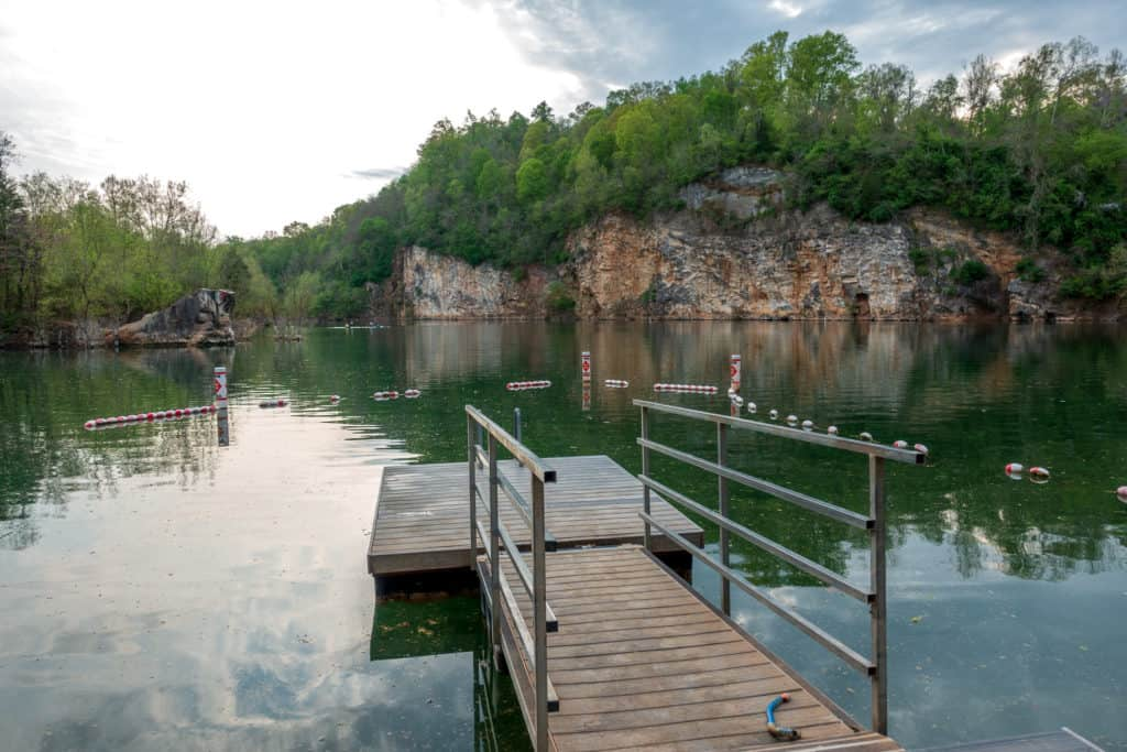 Meads Lake Quarry at the Ijams Nature Center in Knoxville, Tennessee