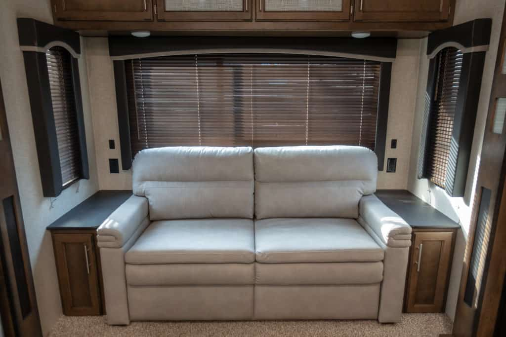 couch desk renovation rv before photo