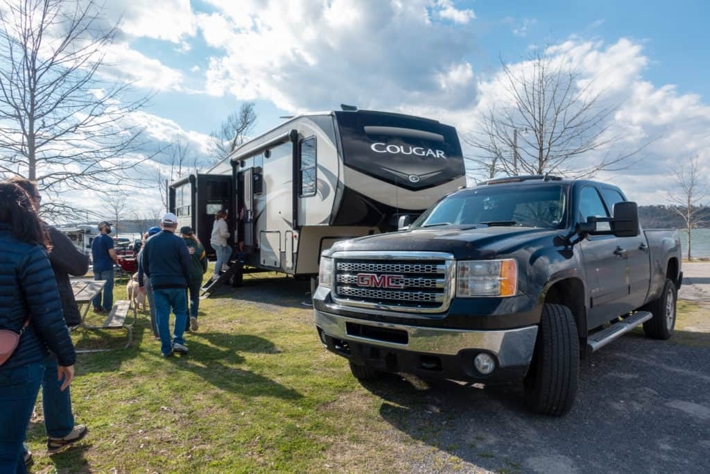 Our RV, being toured at the RVE Summit