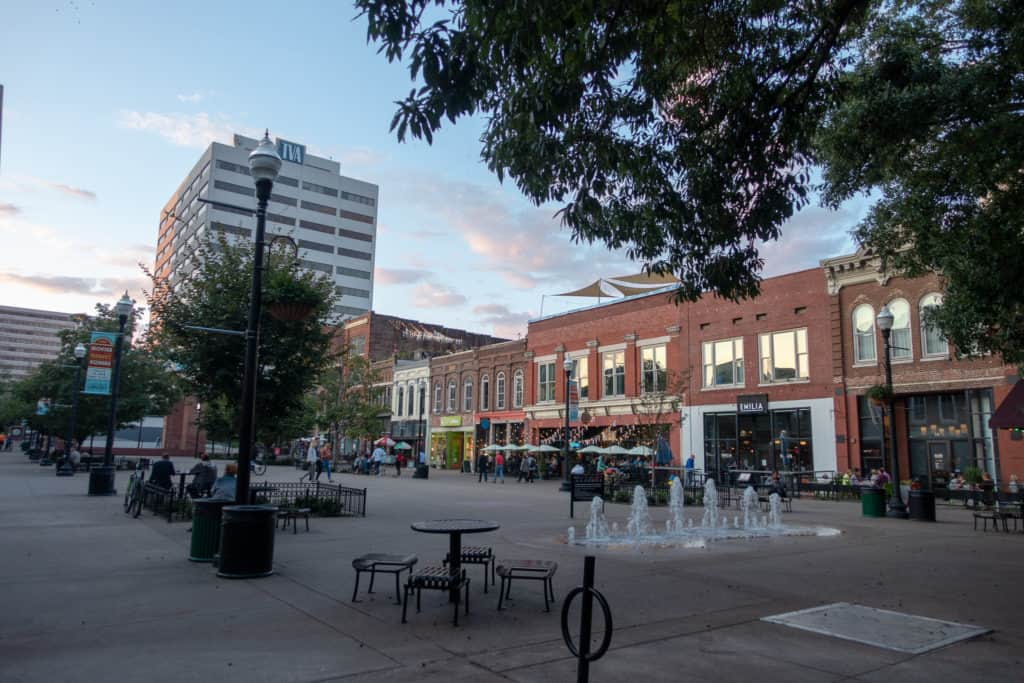 Historic Market Square in Knoxville, Tennessee