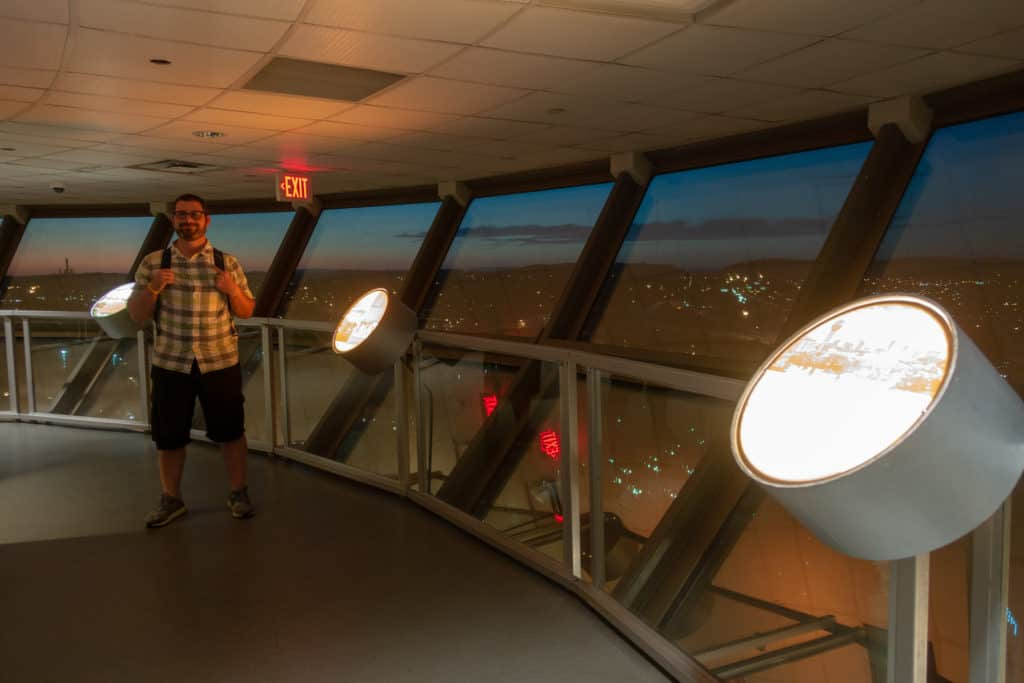 Inside the Sunsphere in Knoxville, Tennessee