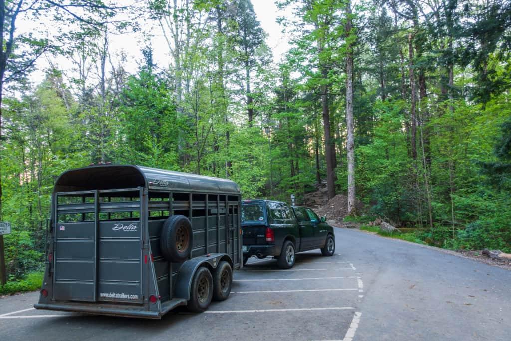 Smoky Mountain Llama Train Transport Vehicle