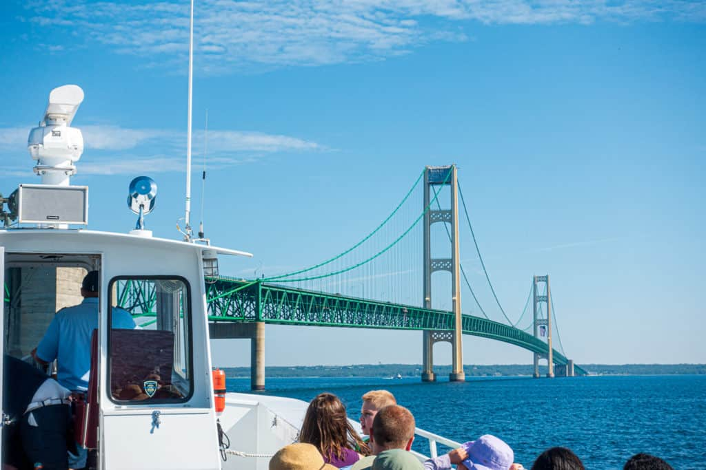 How to get to Mackinac Island Mighty Mac from the Ferry
