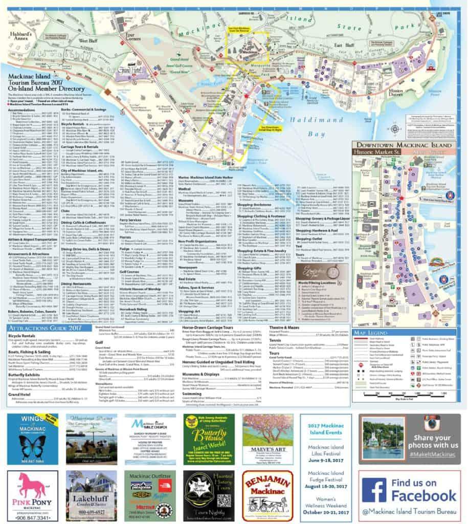 Downtown Mackinac Island Map