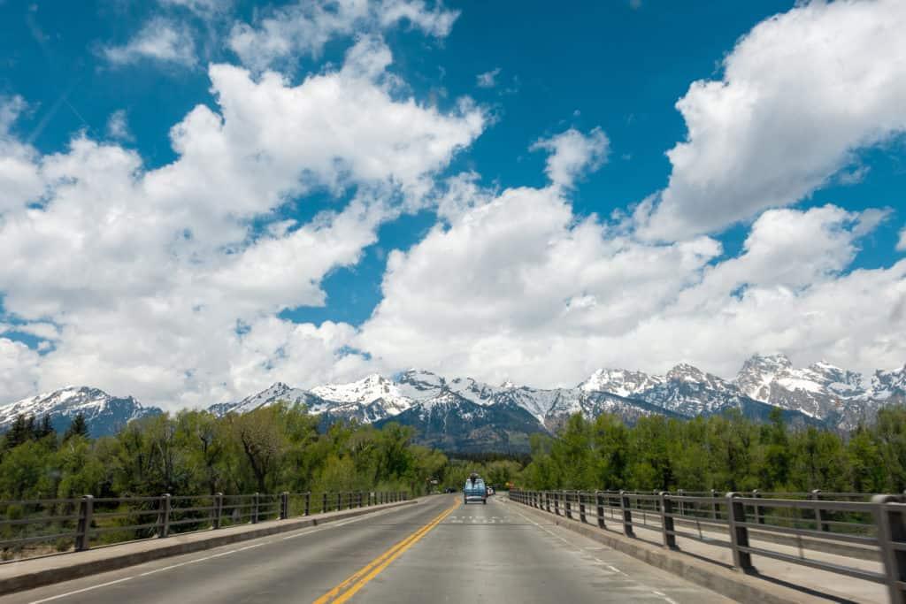 Van Driving in Grand Teton National Park