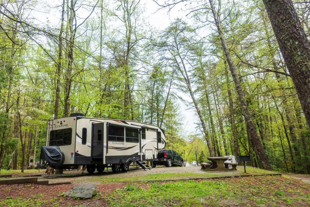 Vogel State Park Campsite in Blairsville, Georgia