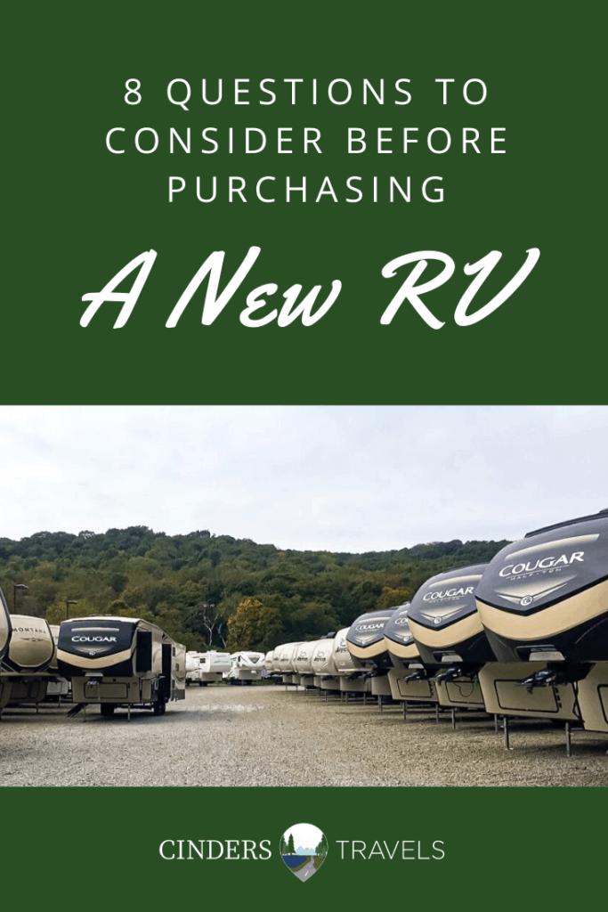 purchasing a new rv
