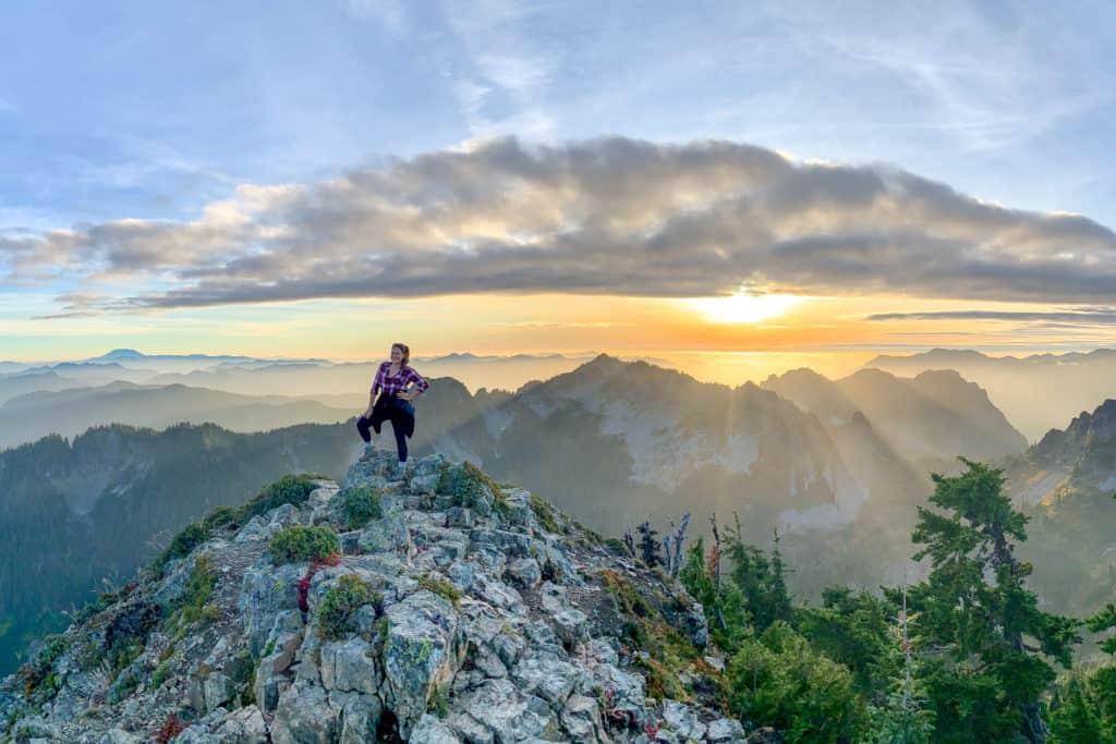 Cindy Hiking in Rainier Crop