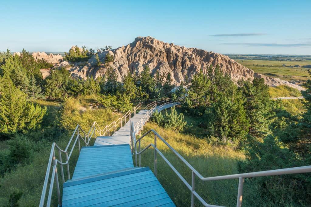 Badlands Cliff Shelf Trail Stairs