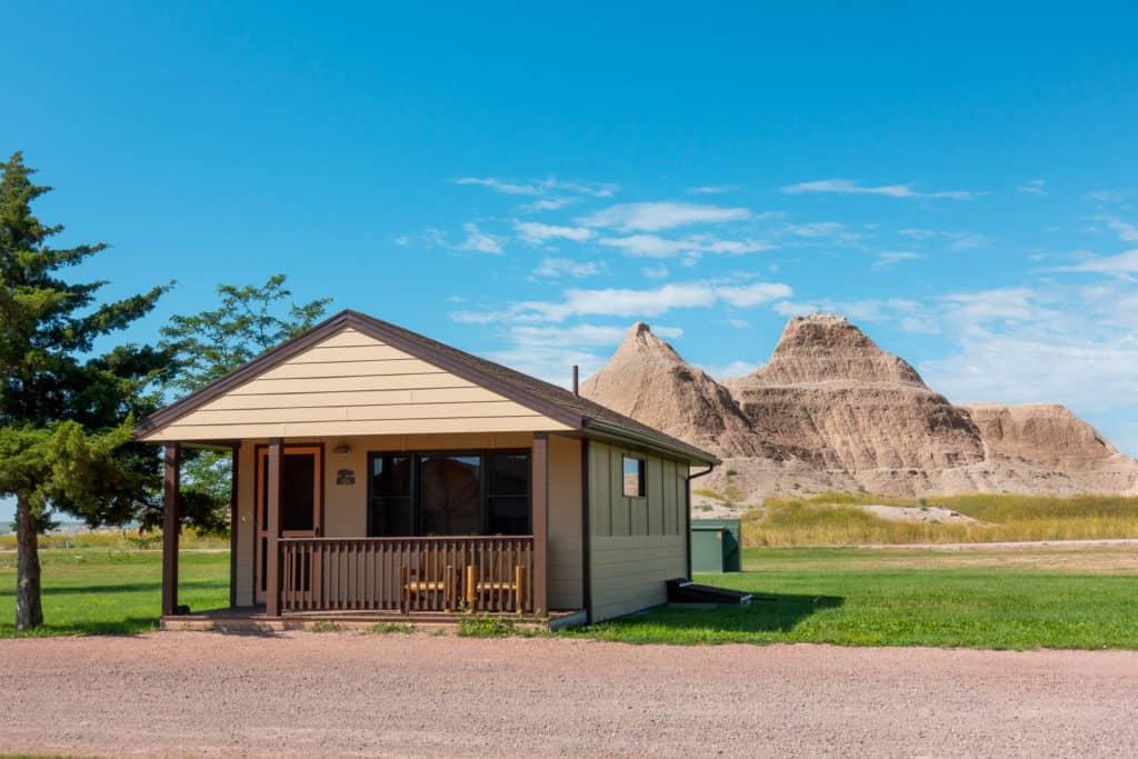 Cedar Pass Lodge Cabin in the Badlands