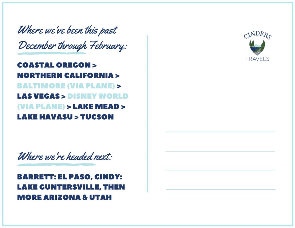 Dec 2019 to February 2020 Postcard