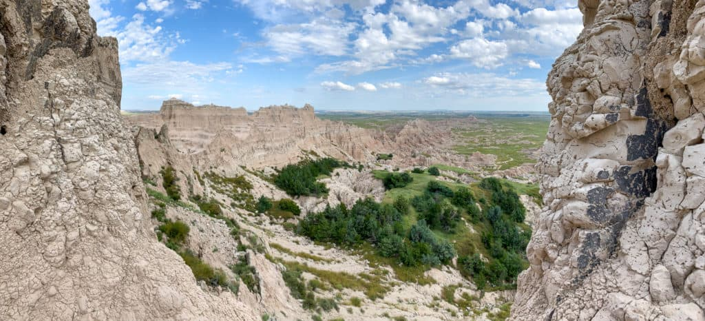 The Notch Trail Outlook in the Badlands