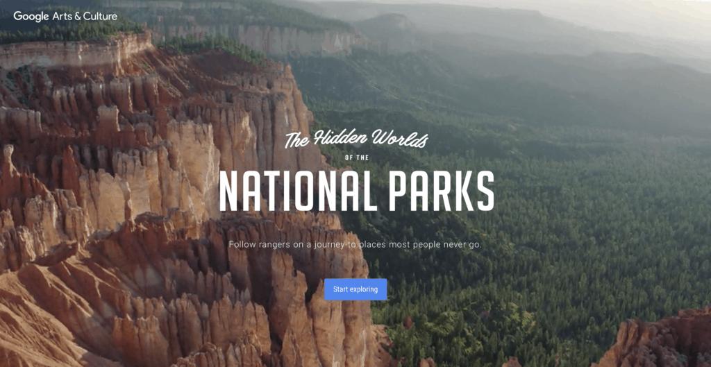 virtual travel national parks