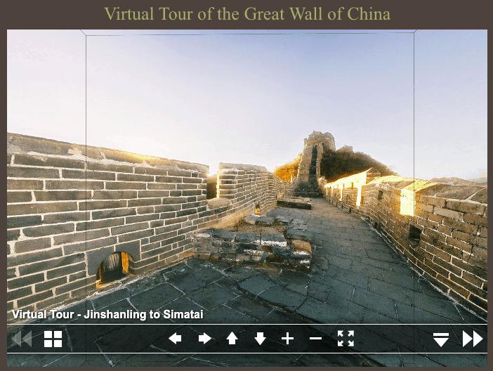 virtual travel great wall of china