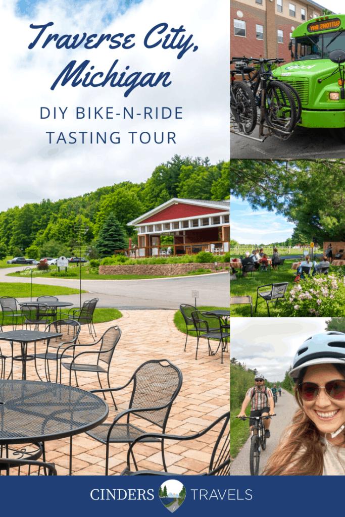 bike-n-ride traverse city tasting tour pin