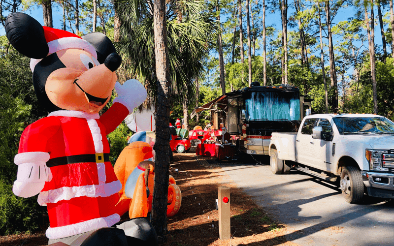 Fort Wilderness Site decorated