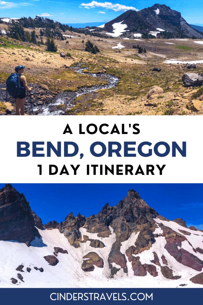 Bend Oregon Itinerary Pin