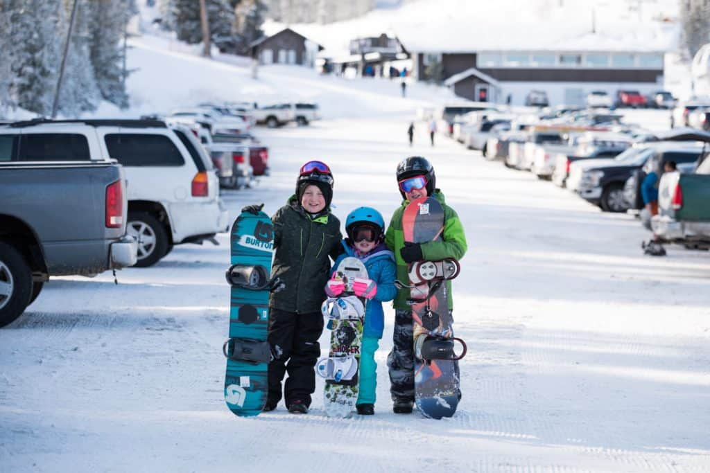 young Southern Idaho skiers
