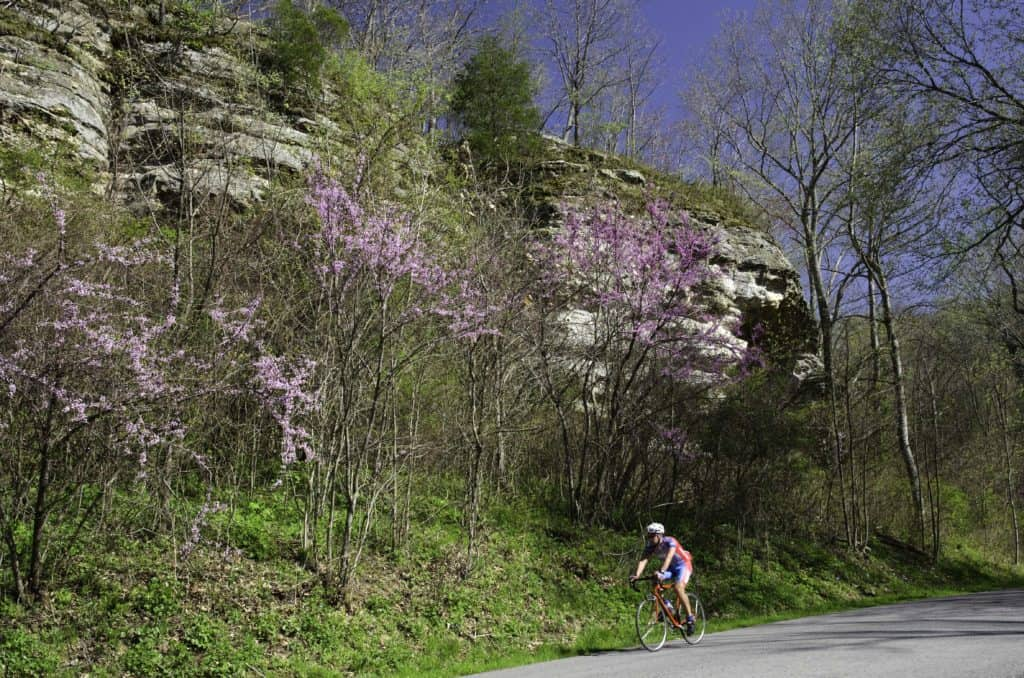 Biking in Shawnee National Forest Giant City