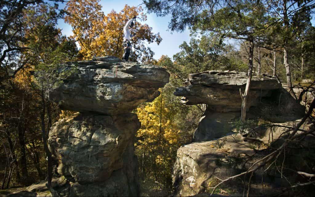 Shawnee National Forest Devils Standtable Climber