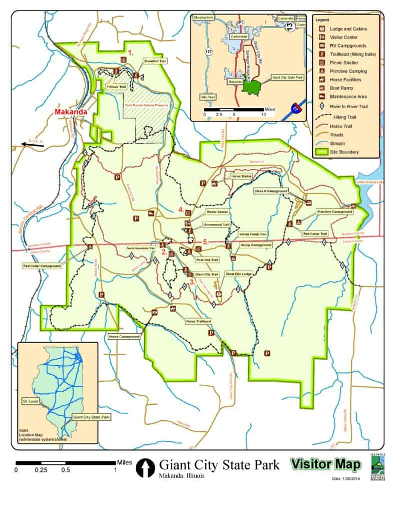 Giant City State Park trail map