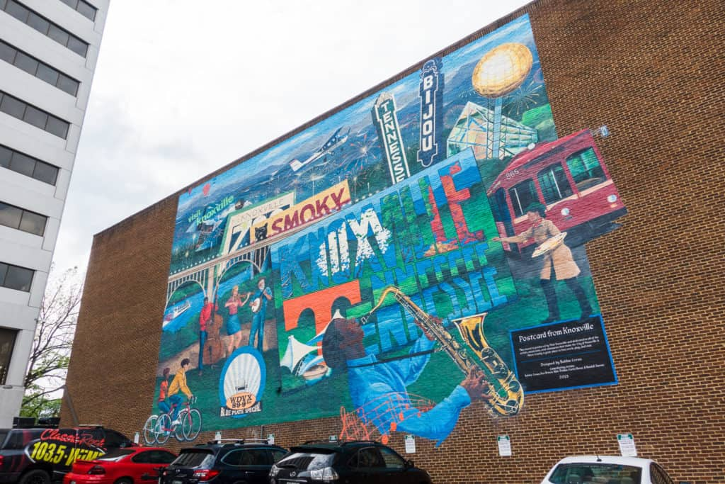 Mural Outside of the Knoxville Visitor Center