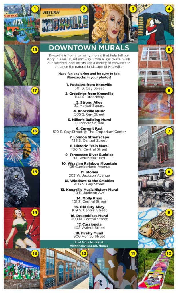 Knoxville Downtown Murals Guide