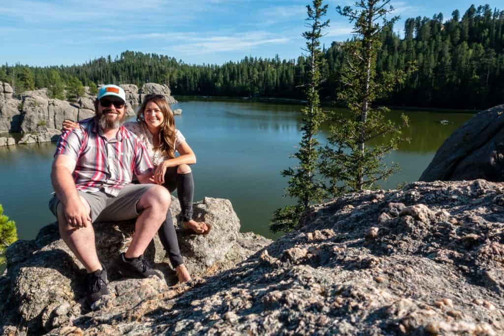 Barrett and Cindy at Sylvan Lake in Custer State Park