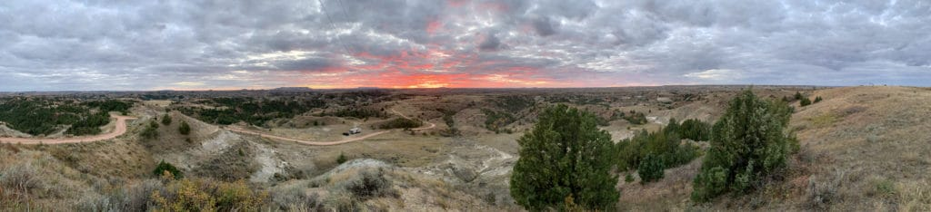 A pano of our boondocking spot in North Dakota